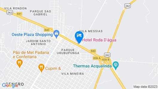 Hotel Roda D' Água Map