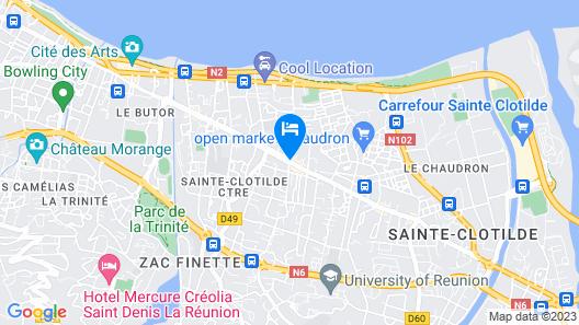 Tulip Inn Sainte Clotilde La Reunion Map