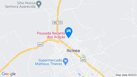 Pousada Recanto dos Araçás Map
