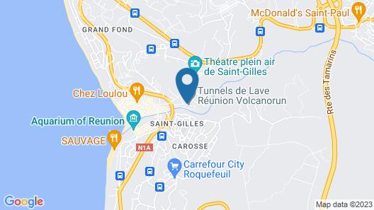 Les Aigrettes Map