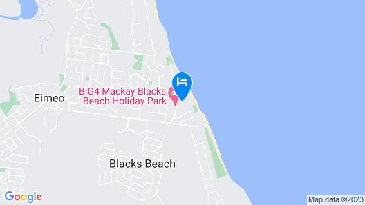 BIG4 Mackay Blacks Beach Holiday Park Map