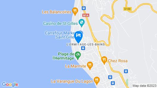 Hotel le Recif-Saint Gilles Map
