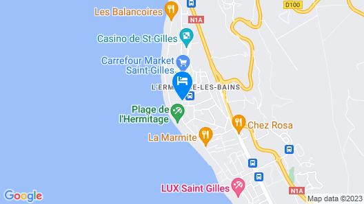 Le Relais de LHermitage Map