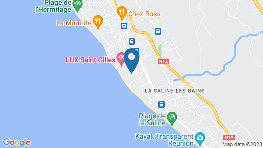 Hotel Le Nautile Beach Map
