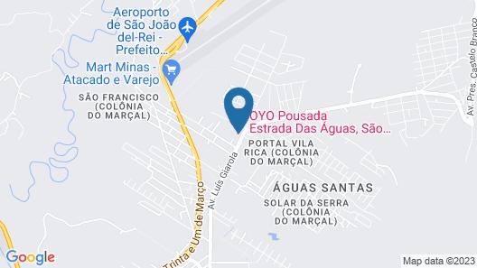 OYO Pousada Estrada Das Águas Map