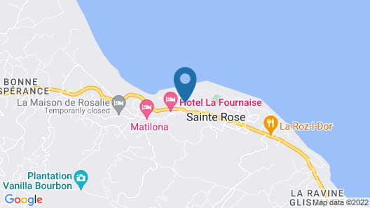 House With 2 Bedrooms in Sainte Rose, With Wonderful sea View, Furnished Garden and Wifi - 2 km From the Beach Map