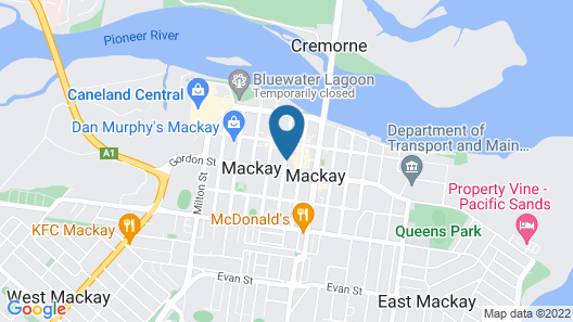 Rydges Mackay Suites Map