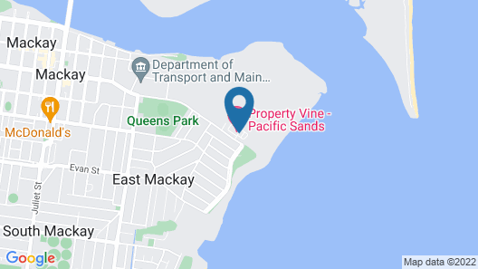 Direct Hotels - Pacific Sands Map