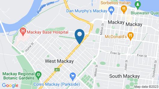 Casa Nostra Motel Mackay Map
