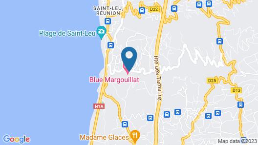 Blue Margouillat Seaview Hotel Map