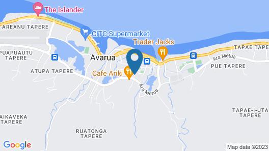 Wellesley Hotel Rarotonga Map