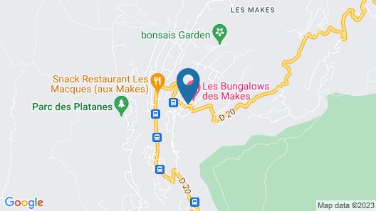 Les Bungalows Des Makes Map