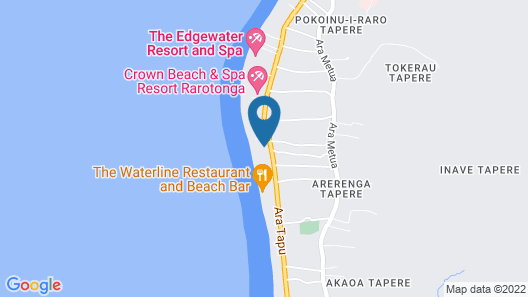 Manuia Beach Resort Map