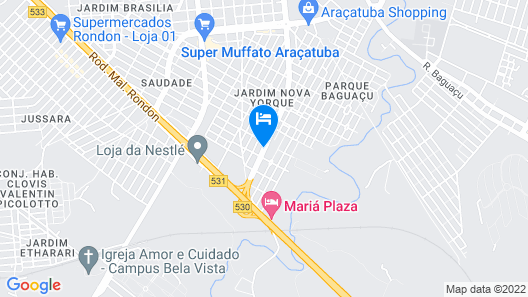 ibis Aracatuba Map