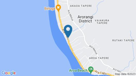 Aroa Beachside Inn Map
