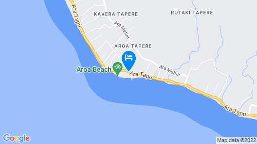Sanctuary Rarotonga-on the beach-Adults Only Map