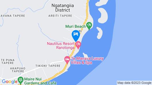 Muri Beach Resort Map