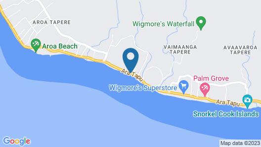Raro Beach Bach Map