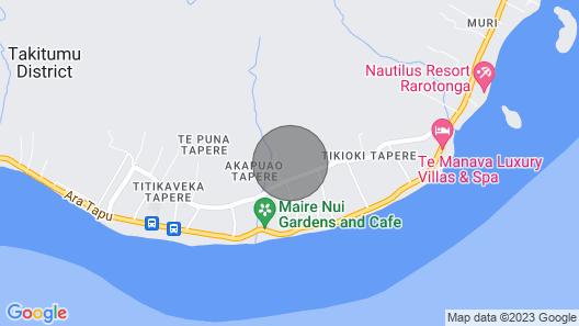 Leomae Rarotonga. Stunning Home in Titikaveka Map