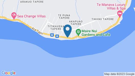 Rarotonga Beach Bungalows Map