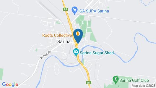 Sarina Motor Inn Map