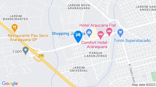 Araraquara Othon Suítes Map