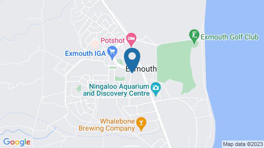 Ningaloo Lodge Exmouth Map