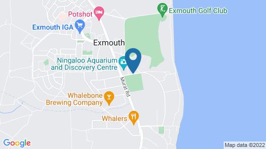 RAC Exmouth Cape Holiday Park Map