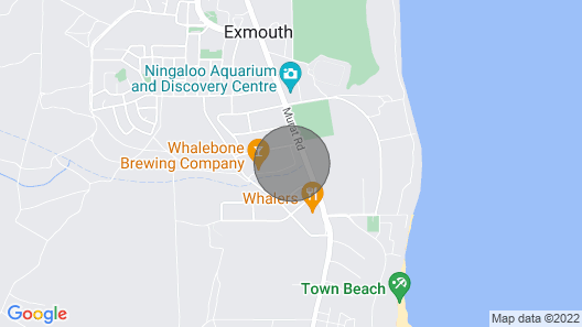Glamping Ningaloo Caravan Hire Map