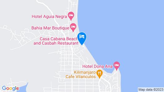Casa Cabana Beach Map