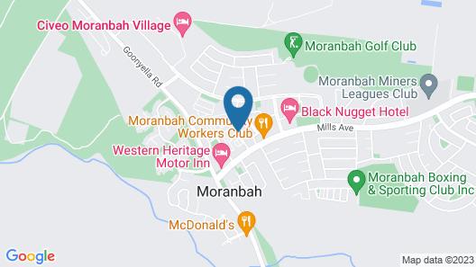 Direct Hotels - Monterey Moranbah Map