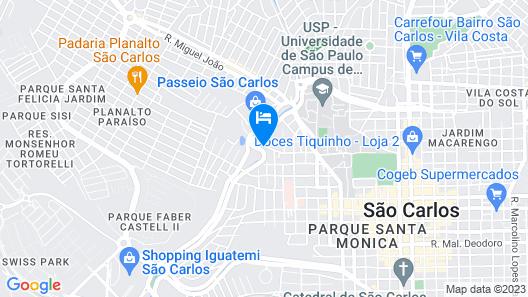 Sleep Inn São Carlos Map