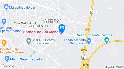 Nacional Inn São Carlos & Convenções Map