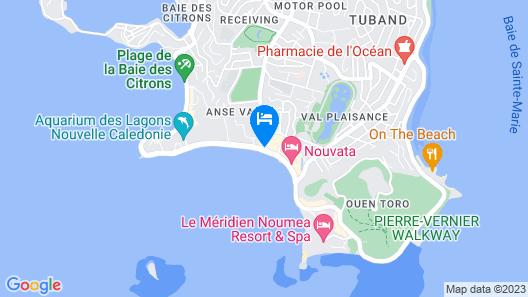 Hilton Noumea La Promenade Residences Map