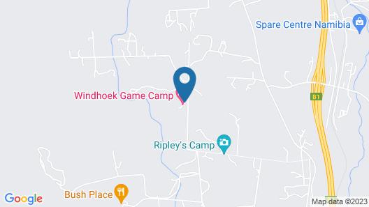 Windhoek Game Camp Map