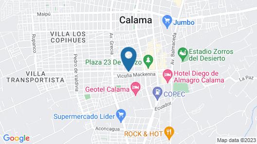 Ayelen Apart Hotel Map