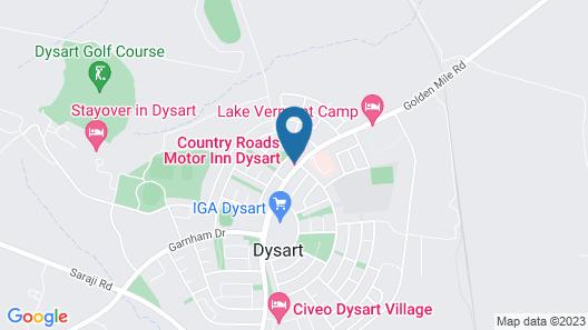 Country Roads Motor Inn Dysart Map