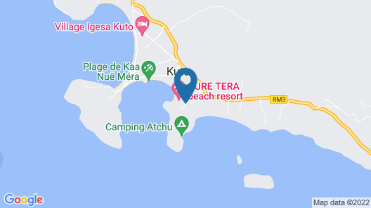 Oure Lodge Beach Resort Map