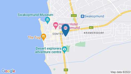 Desert Sands Boutique B&B   Self-Catering Map