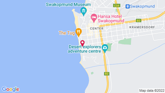 Atlantik Sicht Sef Catering apartment Self catering Map