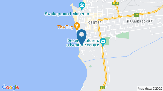 Swakopmund Sands Hotel & Cottage Map