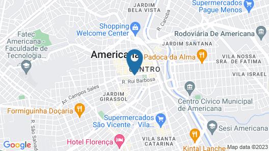 Hotel InterAmericana Map
