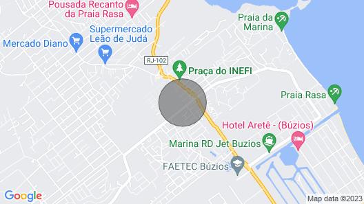 Buzios, Shallow Beach, Green Ville I Condominium, Rio de Janeiro Map