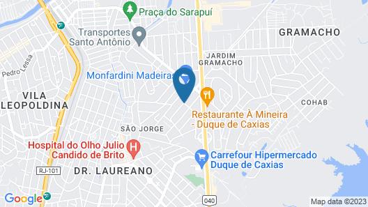 Quartos em casa IN Caxias Map