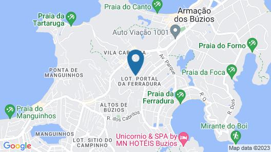 Pousada Alto Ferradura Map