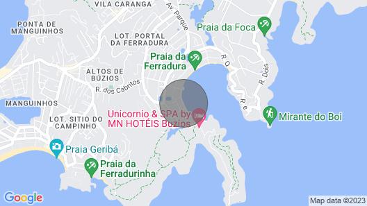 Casa 6 Suites na Beira da Praia da Ferradura Map