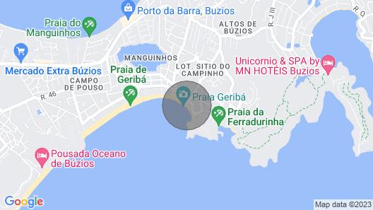 Luxuosa Casa de Praia Condominio Amarras Frente da Praia de Geriba,com Piscinas Map