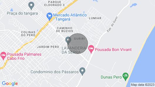 House near the beach dunes of peró. Map