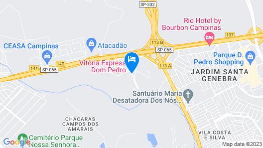 Vitoria Hotel Express Dom Pedro Map