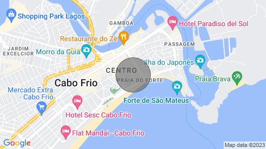 Cabo Frio - Praia do Forte - Apto 2 Quartos - Princesa de Minas Map